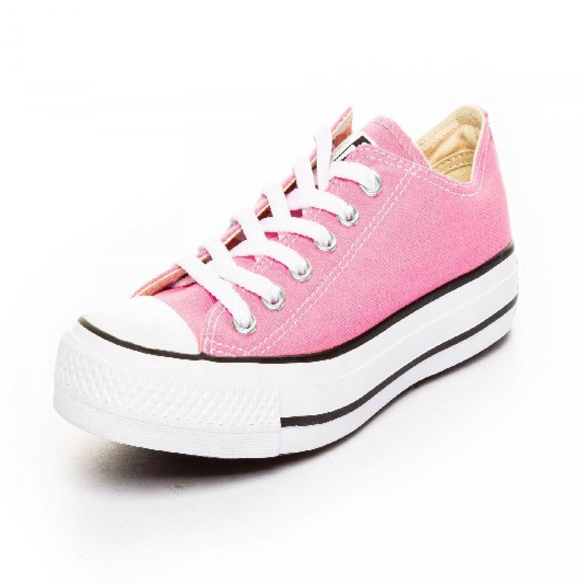 converse rosa mujer