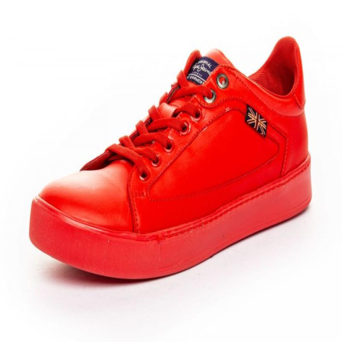 40562432a Tenis marca Pepe Jeans modelo WAYNE Color Rojo