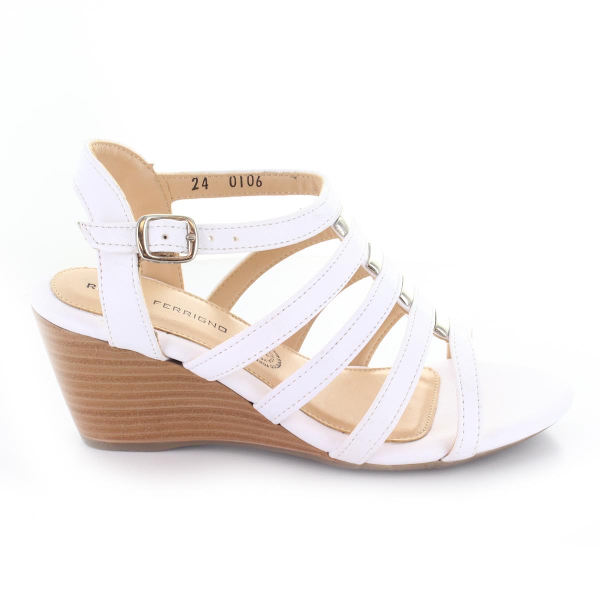 b453192258a ... Sandalia para Mujer Rafael Ferrigno 0106 Color Blanco ...