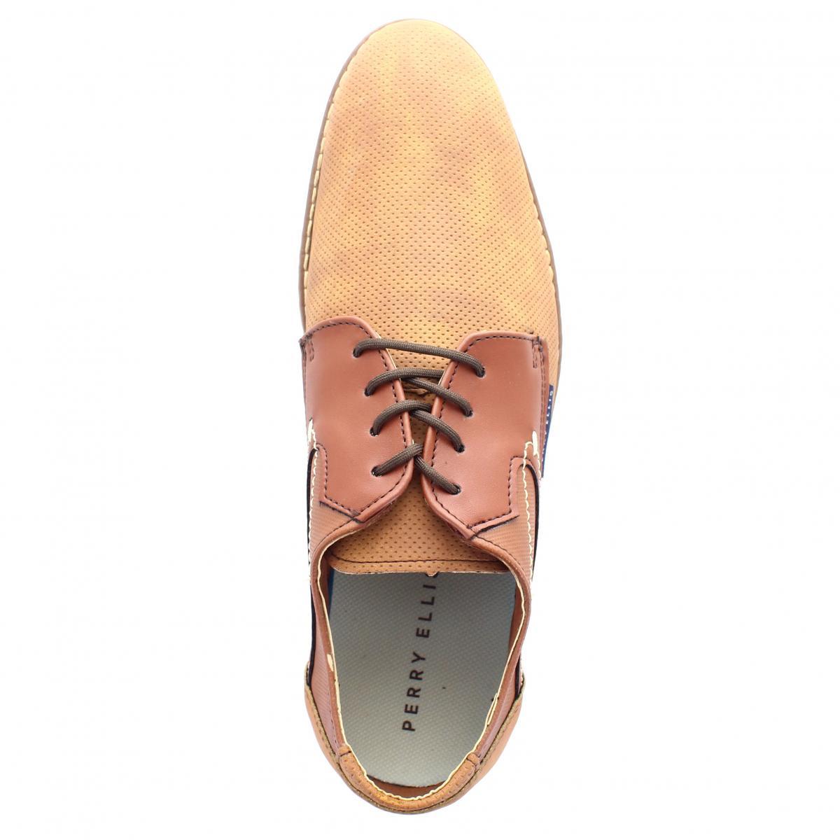 7a6c95f45c ... Zapato para Hombre Perry Ellis PE-7010 Color Camel