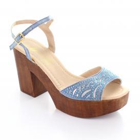 Zapatilla para Mujer Muzza 57 Color Mezclilla/plata