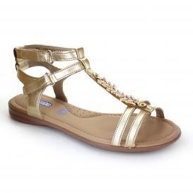 Sandalia para Niña Coqueta 110911-S Color Oro