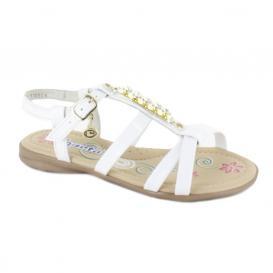 Sandalia para Niña Coqueta 110901-D Color Blanco