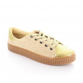 Tenis para Mujer Redberry 1600 Color Beige/oro