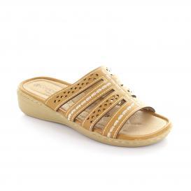 Sandalia para Mujer Comfort Fit 11226 Color Tan