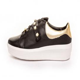 Tenis para Mujer Redberry 6913 Color Negro/oro