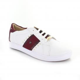 Tenis para Mujer Redberry 5205 Color Blanco-Vino