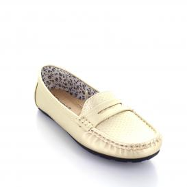 Mocasin para Mujer Comfort Fit 14935 Color Oro