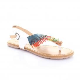 Sandalia para Mujer Emilio Bazan 535019 Color Blanco/multicolor