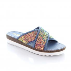 Sandalia para Mujer Muzza 304 Color Azul/med