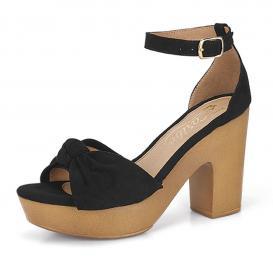Zapatilla para Mujer Playa Caribe 21044 Color Negro