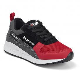 Botin para Niña Bomper W206 Color Negro/rojo